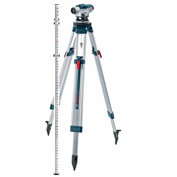 Bosch GOL26CK 26X Zoom Optical Level Kit with Tripod and Rod image number 0