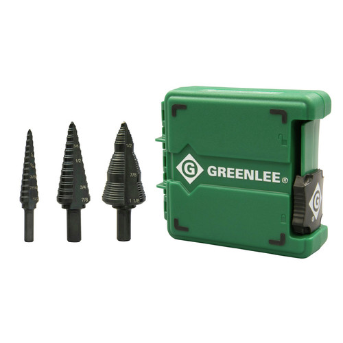 Greenlee GSBSET3 #1, #4, #9 Step Bit Kit image number 0