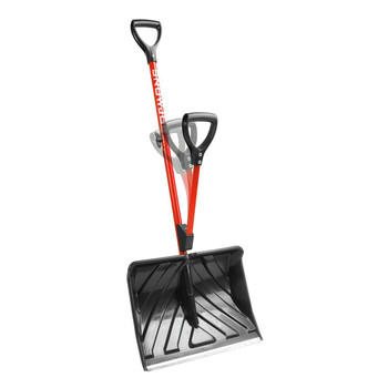 Snow Joe SJ-SHLV01-RED 16 in. Back-Saving Snow Shovel, Red image number 2
