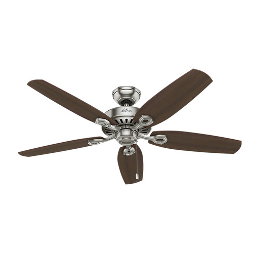 Hunter 53241 52 in. Builder Elite ENERGY STAR Brushed Nickel Ceiling Fan
