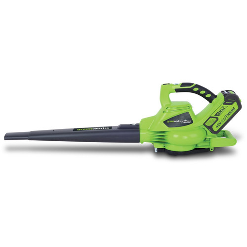 Greenworks 24322 40V G-MAX Cordless Lithium-Ion DigiPro Brushless Variable-Speed Handheld Blower Vac
