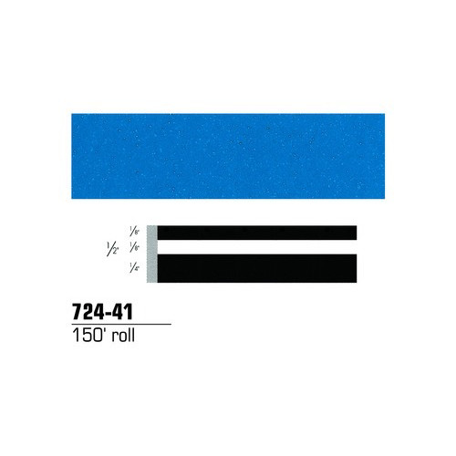3M 72441 Scotchcal Striping Tape, Azure Blue, 1/2 in. x 150 ft.