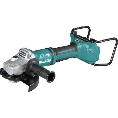 Makita XAG22ZU1 18V X2 LXT Lithium-Ion Brushless Cordless 7 in. Paddle Switch Cut-Off/Angle Grinder with Electric Brake and AWS  (Tool Only) image number 1