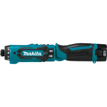 Makita DF012DSE 7.2V Lithium-Ion 1/4 in. Cordless Hex Drill Driver Kit with Auto-Stop Clutch (1.5 Ah) image number 3
