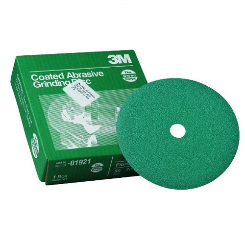 3M 1921 7 in. x 7/8 in. 50 Grade Green Corps Fibre Disc (20-Pack)