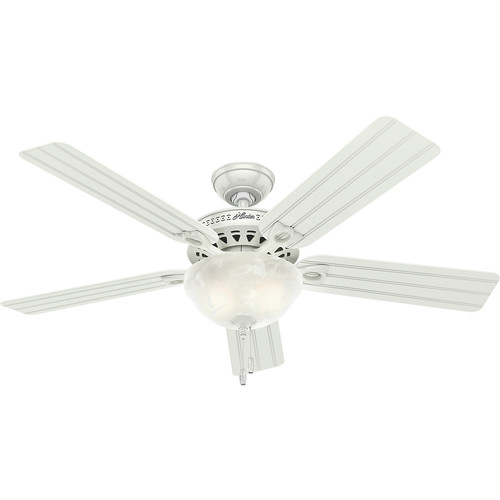 Hunter 53122 52 in. Beachcomber White Ceiling Fan with Light