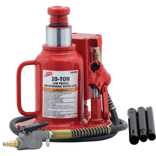 ATD 7422W 20 Ton Low Profile Air/Hydraulic Bottle Jack image number 0