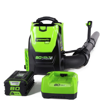 Greenworks 2404802 BPB80L2510 80V Backpack Blower with 2.5 Ah Battery and Charger image number 0