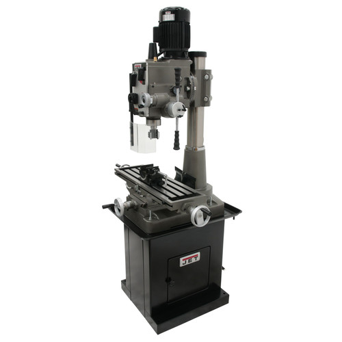 JET 351161 JMD-45GHPF Geared Head Square Column Mill Drill with Power Downfeed, DP500 2-Axis DRO and X-Axis Powerfeed