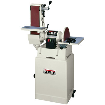 JET JSG-6CS 6 in. x 48 in. Belt / 12 in. Disc Combination Sander with Closed Stand