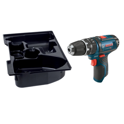 Bosch PS130BN 12V Max Lithium-Ion 3/8 in. Cordless Hammer Drill Driver with L-BOXX Insert Tray (Tool Only) image number 1