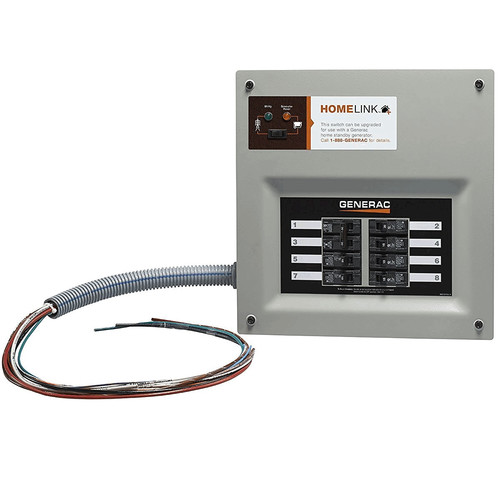 Generac 6852 30 Amp Indoor Transfer Switch Kit for 6-8 Circ Stand-Alone, Upgradeable image number 0