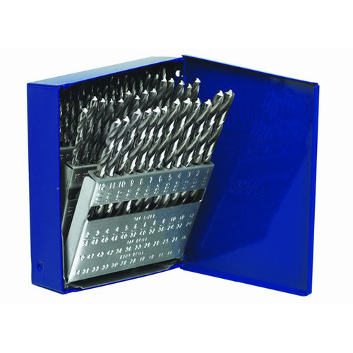 Irwin Hanson 80181 60-Piece Wire Gauge Straight Shank Jobber Length Metal Drill Bit Set