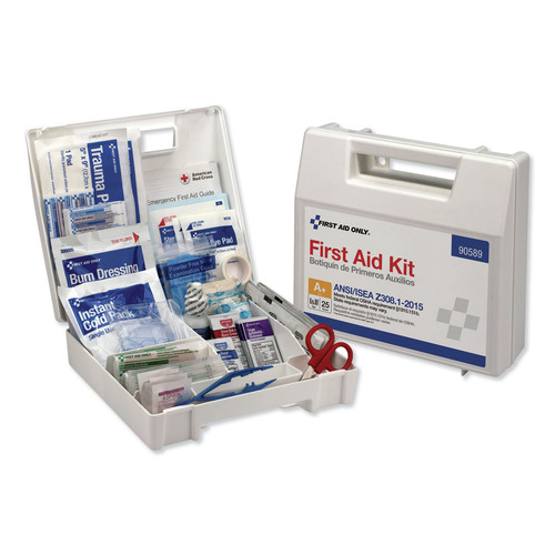 First Aid Only 90589 141 Pcs. Class Aplus Type I and II First Aid Kit for 25 People image number 0