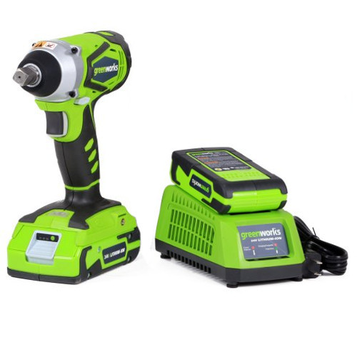 1 2 Cordless Impact >> Greenworks 3800302 24v Cordless Lithium Ion 1 2 In Impact Wrench