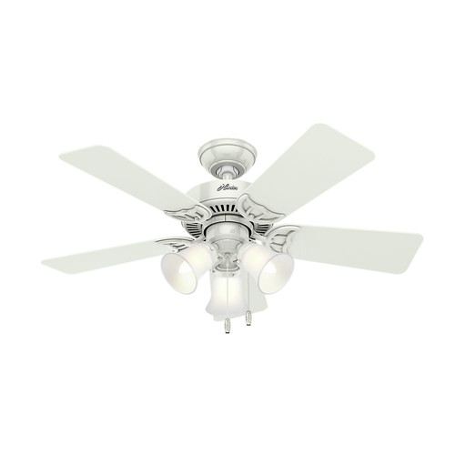 Hunter 51010 42 in. Southern Breeze White Ceiling Fan with Light