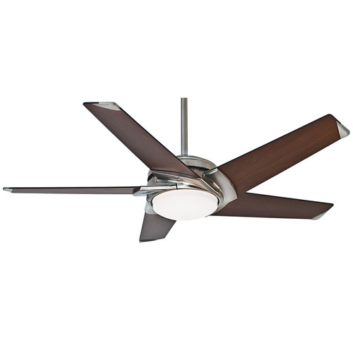 Casablanca 59164 54 in. Stealth DC Brushed Nickel Ceiling Fan with Light and Remote