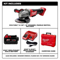 Milwaukee 2780-21 M18 FUEL Cordless 4-1/2 in. - 5 in. Paddle Switch Grinder with (1) REDLITHIUM Battery image number 1