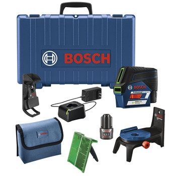 Bosch GCL100-80CG 12V Green-Beam Cross-Line Laser with Plumb Points image number 0