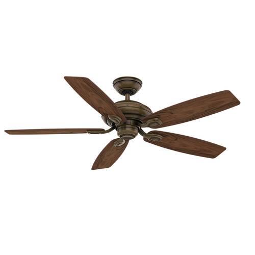 Casablanca 54040 52 in. Utopian Gallery Aged Bronze Ceiling Fan with Light with Wall Control