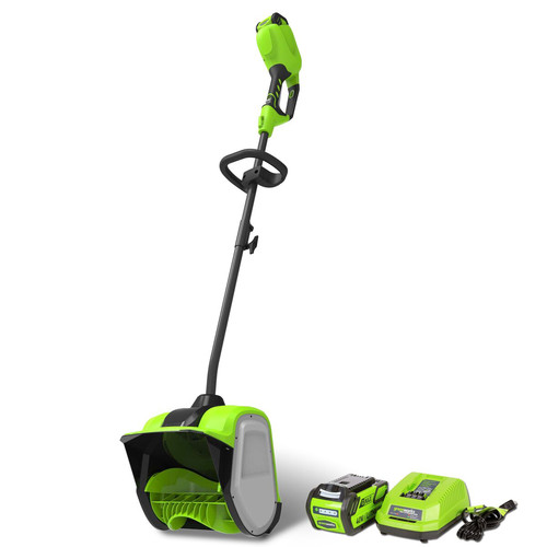 Greenworks 2600702 GMAX 40V Cordless Lithium-Ion 12 in. Snow Shovel Kit image number 0