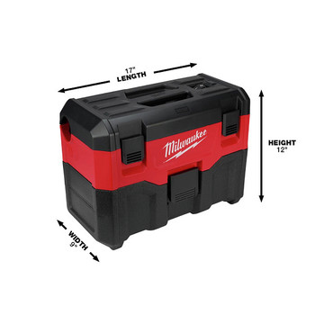 Milwaukee 0880-20 M18 18V Lithium-Ion 2 Gallon Wet/Dry Vacuum (Tool Only) image number 3