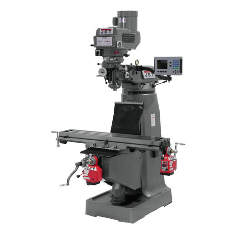 JET JTM-4VS Mill with 3-axis ACU-RITE 200S DRO (Quill) X and Y Powerfeed Installed