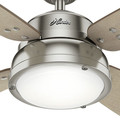 Hunter 59439 52 in. Wingate Brushed Nickel Ceiling Fan with Light and Handheld Remote image number 5