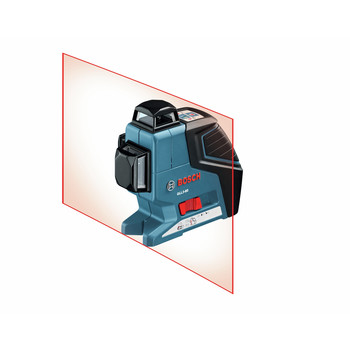 Factory Reconditioned Bosch GLL3-80-RT 360 Degree 3-Plane Leveling and Alignment Line Laser image number 1