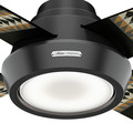 Hunter 59389 54 in. Pendleton Matte Black Ceiling Fan with LED Light Kit and Remote Control image number 5
