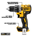 Dewalt DCK283D2 20V MAX XR Compact Brushless Lithium-Ion Cordless Drill/Driver and Impact Driver Combo Kit (2 Ah) image number 7