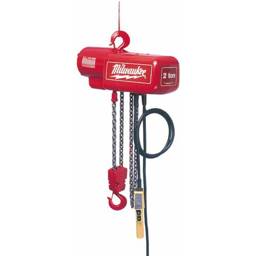 Milwaukee 9573 2 Ton Electric Chain Hoist with 20 ft. Lift Height