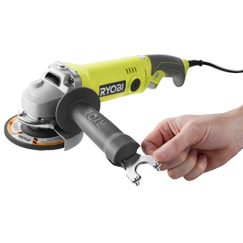Factory Reconditioned Ryobi ZRAG454 7.5 Amp 4.5 in. Angle Grinder image number 0