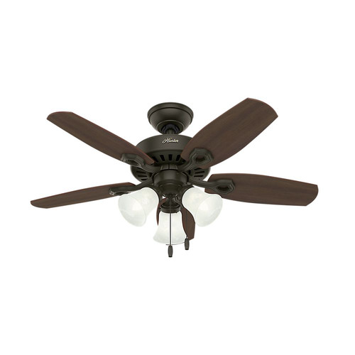 Hunter 52107 42 in. Builder Small Room New Bronze Ceiling Fan with Light