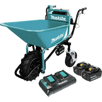 Makita XUC01PTX1 18V X2 LXT Brushless Cordless Power-Assisted Hand Truck/Wheelbarrow Kit with Bucket (5.0Ah) image number 0