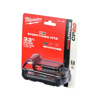 Milwaukee 48-11-1820 M18 REDLITHIUM CP 2 Ah Lithium-Ion Battery image number 0