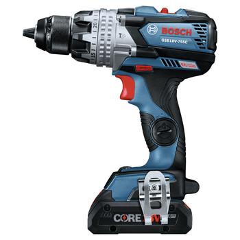 Bosch GXL18V-224B25 18V 2-Tool 1/2 in. Hammer Drill Driver and 2-in-1 Impact Driver Combo Kit with (2) CORE18V 4.0 Ah Lithium-Ion Batteries image number 3