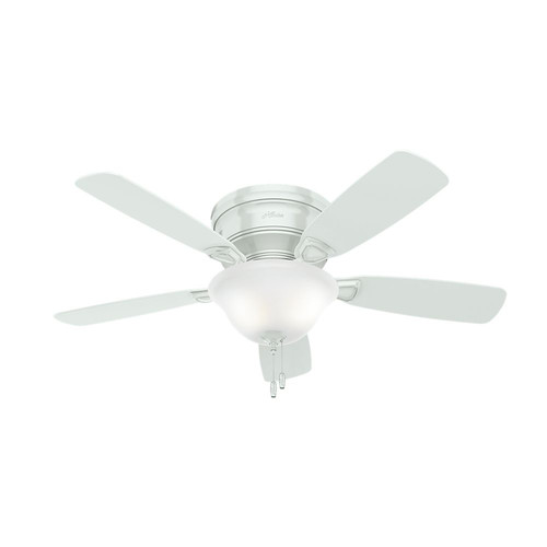 Hunter 52062 48 in. Low Profile White Ceiling Fan with Light