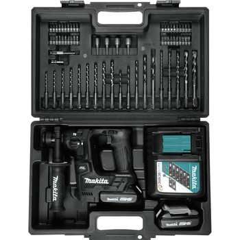 Makita XRH06RBX 18V LXT Lithium-Ion Sub-Compact Brushless 11/16 in. Rotary Hammer Kit, accepts SDS-PLUS bits, 65 Pc. Accessory Set image number 5