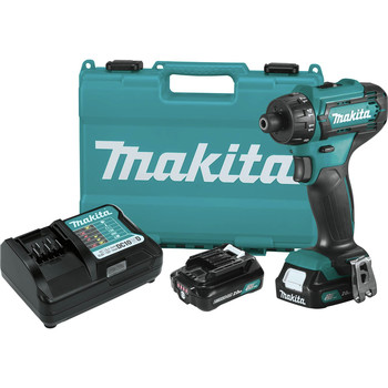 Makita FD10R1 12V max CXT Lithium-Ion Hex Brushless 1/4 in. Cordless Drill Driver Kit (2 Ah) image number 0