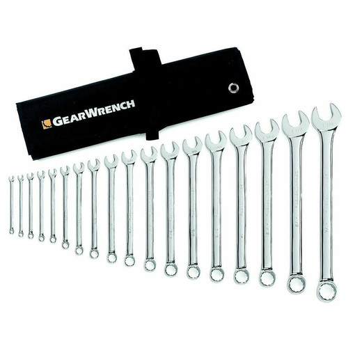 GearWrench 81925 14 Piece 6 Point Full Polish Metric Combination Non-Ratcheting