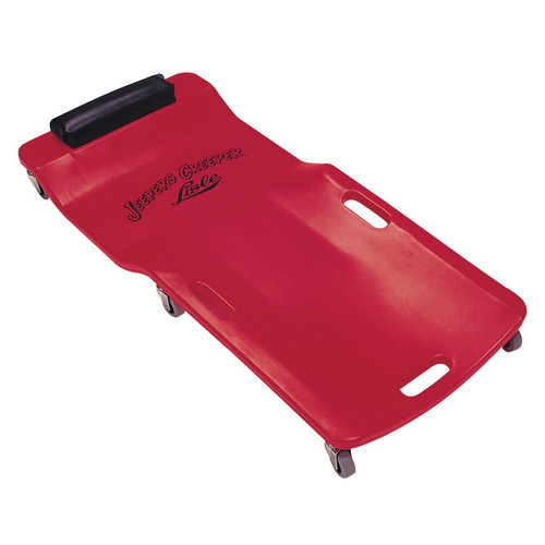 Lisle 92102 250 - 300 lb. Capacity Low Profile Plastic Creeper (Red) image number 0