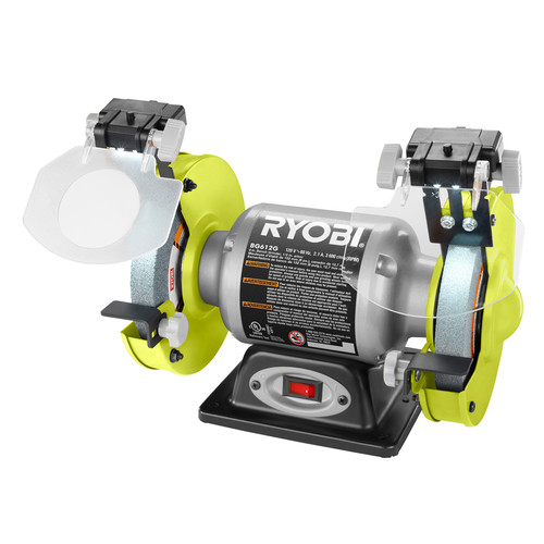Factory Reconditioned Ryobi ZRBG612G 2.1 Amp 6 in. Bench Grinder
