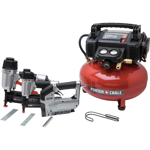 Factory Reconditioned Porter-Cable PCFP12234R 3-Tool Finish Nailer and Brad Nailer Combo Kit image number 0