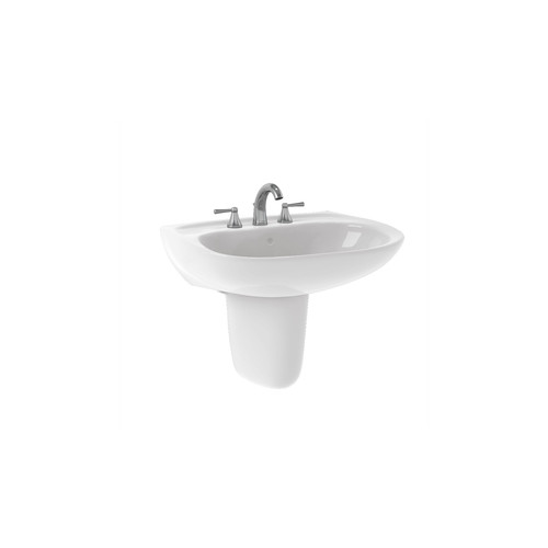 TOTO LHT242G#01 Prominence Wall Mount Vitreous China 21.5 in. x 26 in. Round Bathroom Sink (Cotton White)