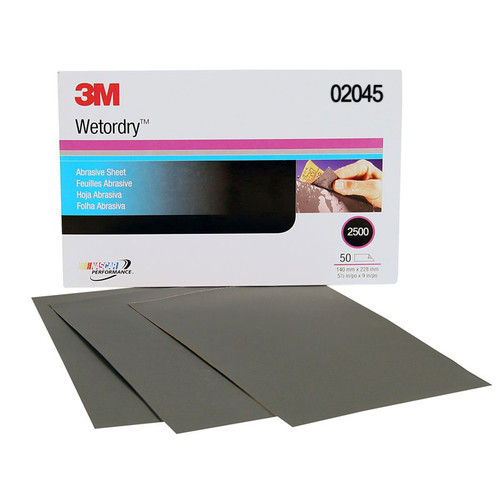 3M 2045 Imperial Wetordry Sheet 5-1/2 in. x 9 in. 2500A (50-Pack) image number 0