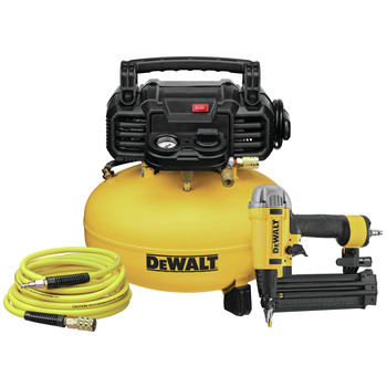 Dewalt DWFP1KIT 18 Gauge Brad Nailer and 6 Gallon Oil-Free Pancake Air Compressor Combo Kit