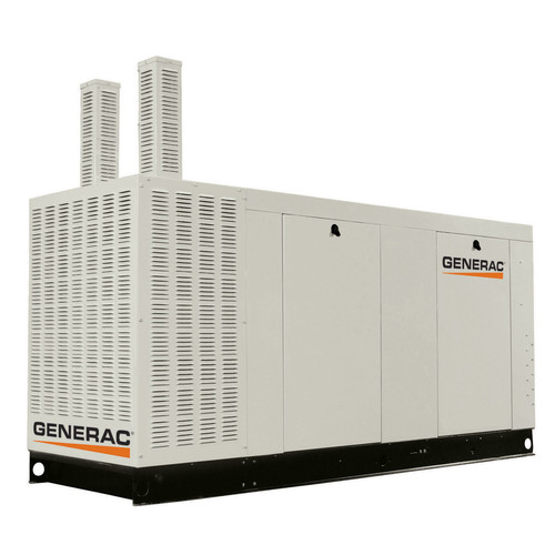 Generac QT15068ANAC Liquid-Cooled 6 8L 150kW 120/240V Single Phase Natural  Gas Aluminum Commercial Generator (CARB)