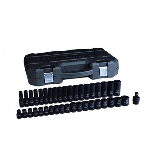 Apex Tool Group GEARWRENCH 84916N SAE//Metric 3//8 Drive Impact Socket Set 44 Piece