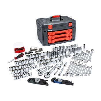 KD Tools 80940 219-Piece Master Tool Set with Drawer Style Carry Case